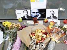 苹果死亡工作对进贡的s史蒂夫 库存图片
