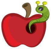 苹果毛虫红色 库存照片