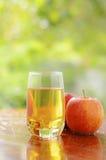 苹果汁和红色苹果 免版税库存图片
