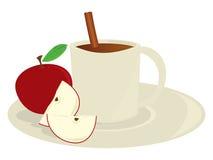 苹果汁杯子 免版税库存图片