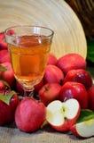 苹果汁杯子 免版税库存照片