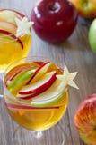 苹果汁桑格里酒 免版税图库摄影