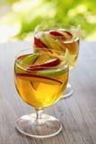 苹果汁桑格里酒 库存照片