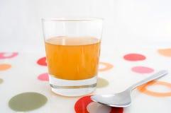 苹果汁玻璃醋 免版税库存图片
