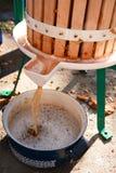 苹果汁生产 免版税图库摄影