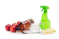 苹果汁醋,房子cleani的有效的自然解答 库存照片