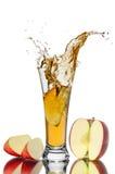 苹果汁飞溅 库存照片
