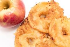 苹果油煎了 免版税库存照片