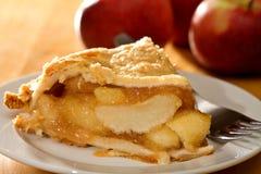 苹果深盘饼 免版税图库摄影