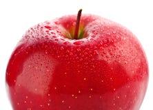 苹果湿查出的红色的部分 免版税库存照片