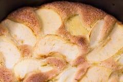 苹果烘烤盘饼 免版税图库摄影