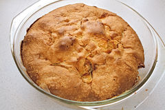 苹果烤箱饼 库存照片