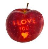 苹果爱您 库存图片