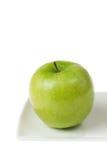 苹果特写镜头绿色高关键字 免版税图库摄影