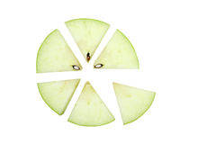 苹果特写镜头部分 免版税库存图片
