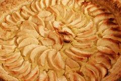 苹果特写镜头饼 库存照片