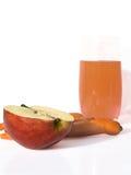 苹果玻璃汁液 免版税库存图片