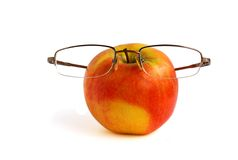 苹果玻璃 免版税图库摄影