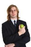 苹果生意人 免版税库存图片