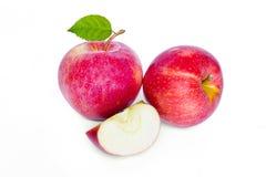 苹果白色的背景关闭 免版税库存图片
