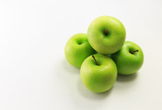 苹果白色的背景关闭 库存照片