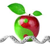 从苹果的尹杨拼贴画 免版税库存图片