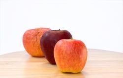 苹果的线的特写镜头视图。 免版税库存图片