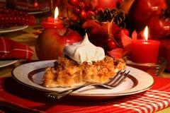 苹果碎屑节假日饼 库存图片