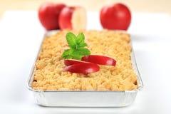 苹果碎屑饼 免版税图库摄影