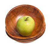 苹果碗 库存图片