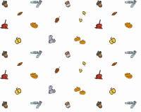 苹果秋天对光检查袋装花瓶的构成干燥叶子 样式由秋叶做成,橡子,杉木锥体 平的位置,顶视图 免版税库存照片