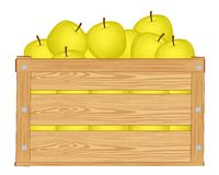 苹果箱子 免版税库存图片