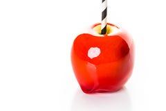 苹果糖果焦糖巧克力反映奶糖 图库摄影