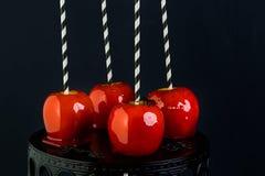 苹果糖果焦糖巧克力反映奶糖 免版税库存图片