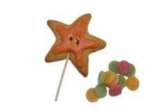 苹果糖煮的carmel万圣节正常款待 免版税库存照片