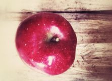 苹果红色成熟 免版税库存照片