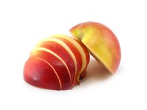 苹果红色片式 库存图片