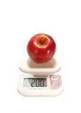 苹果红色缩放比例 免版税库存照片