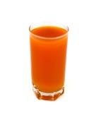 苹果红萝卜玻璃汁液 免版税库存图片