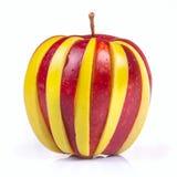 苹果结果实绿色混杂的红色 免版税库存图片