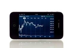 苹果统计数据股票 免版税库存图片