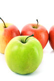 苹果绿化查出的红色 库存图片