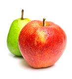 苹果绿的梨红色 库存照片