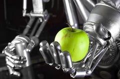 苹果绿的现有量藏品机器人 免版税库存图片