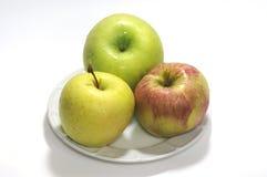 苹果绿的红色黄色 图库摄影