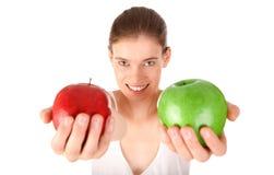 苹果绿的红色 免版税库存照片