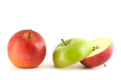 苹果绿的红色 免版税图库摄影