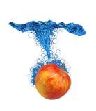 苹果绿的飞溅 免版税库存图片