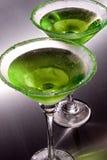 苹果绿的马蒂尼鸡尾酒s 库存照片