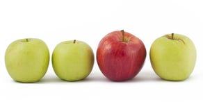 苹果绿红色选拔三白色 免版税库存图片